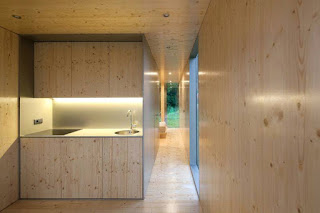 kitchen and hallway of the prefab house