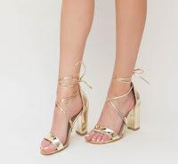 Sandale elegante aurii pentru ocazii speciale
