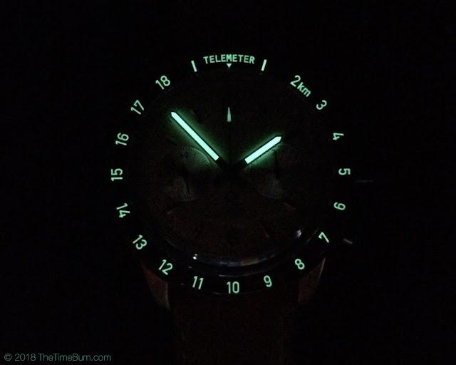TC-9 LunarScope Chronograph lume