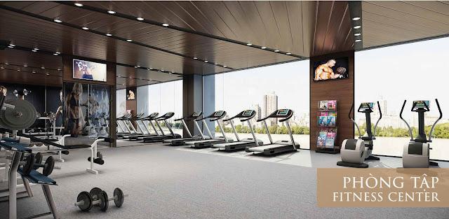 Phòng tập Gym với các trang thiết bị hiện đại