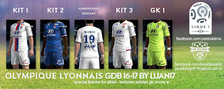 Kit Olympique de Lyon Adidas [2016-2017] Pes 2013