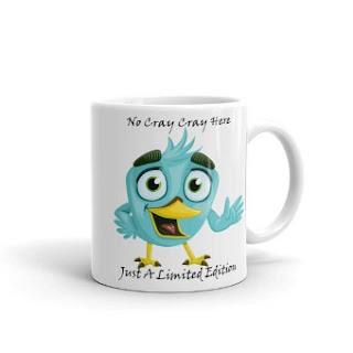 blue bird designer coffee mug
