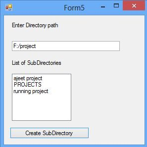 How to access subDirectories of a Directory in C#