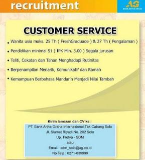 Lowongan Kerja PT. Bank Artha Graha International Tbk