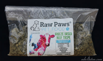 Raw Paws Pet Food beef tripe