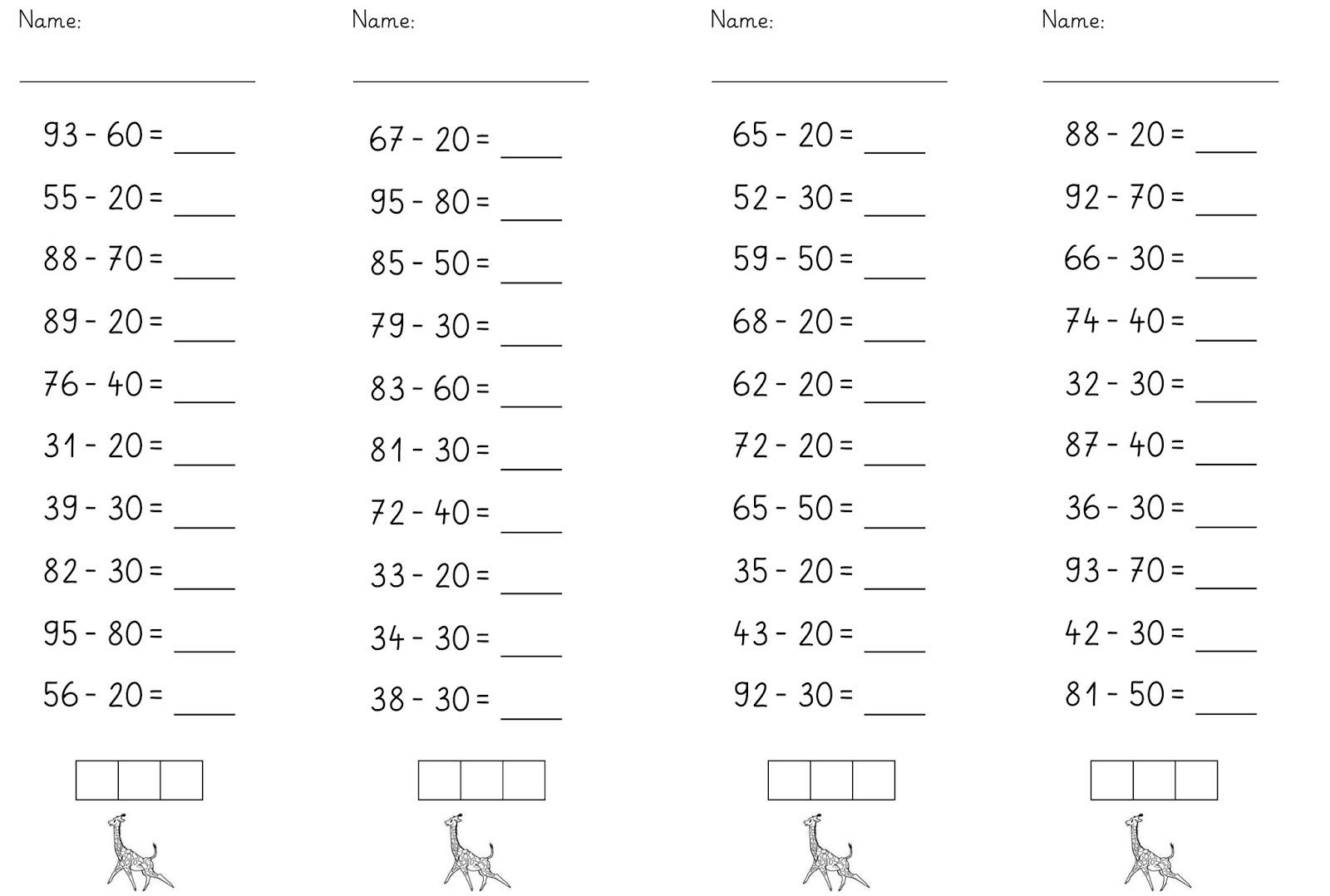 lernst bchen zehnerzahlen subtrahieren 3. Black Bedroom Furniture Sets. Home Design Ideas