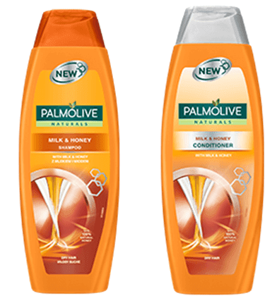 Palmolive Naturals Milk and honey shampoo, conditioner