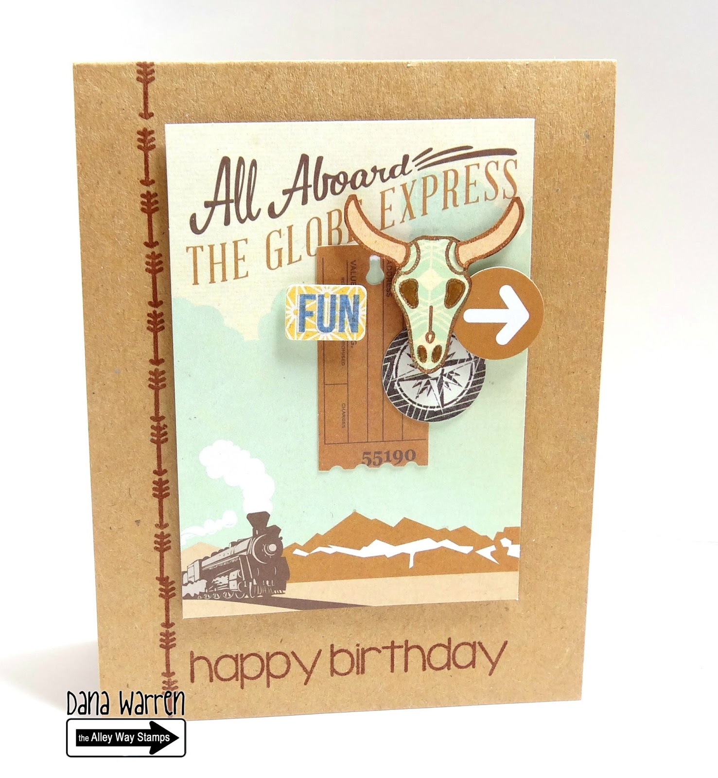 Dana Warren - Kraft Paper Stamps - The Alley Way Stamps