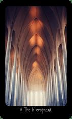 The Hierophant tarot card image