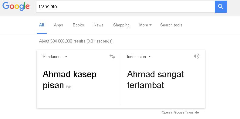 Google Translate Tak Mampu Terjemahkan Bahasa Sunda Dengan Baik Root93 Co Id Computer Networking Web Programming