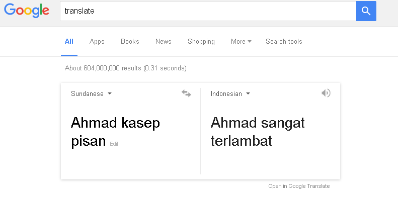 Google Translate Tak Mampu Terjemahkan Bahasa Sunda Dengan Baik