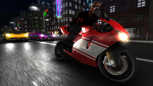Halo teman para pecinta game android mod Racing Fever: Moto v1.2.9 Mod Apk (Unlimited Money)