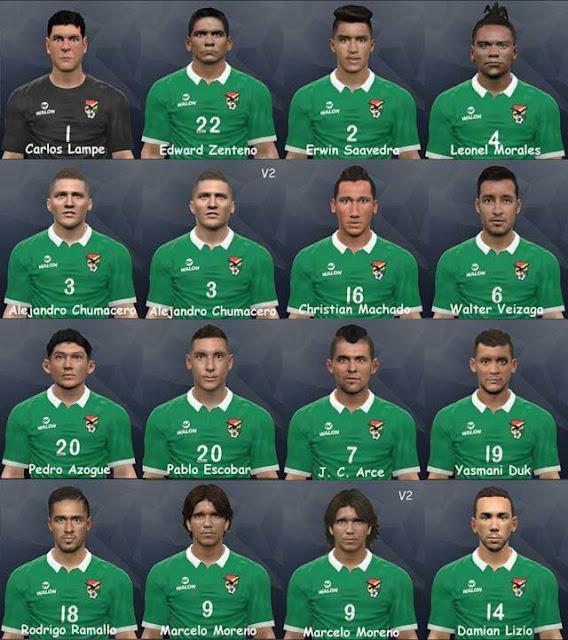 Boliviana Facepack PES 2017