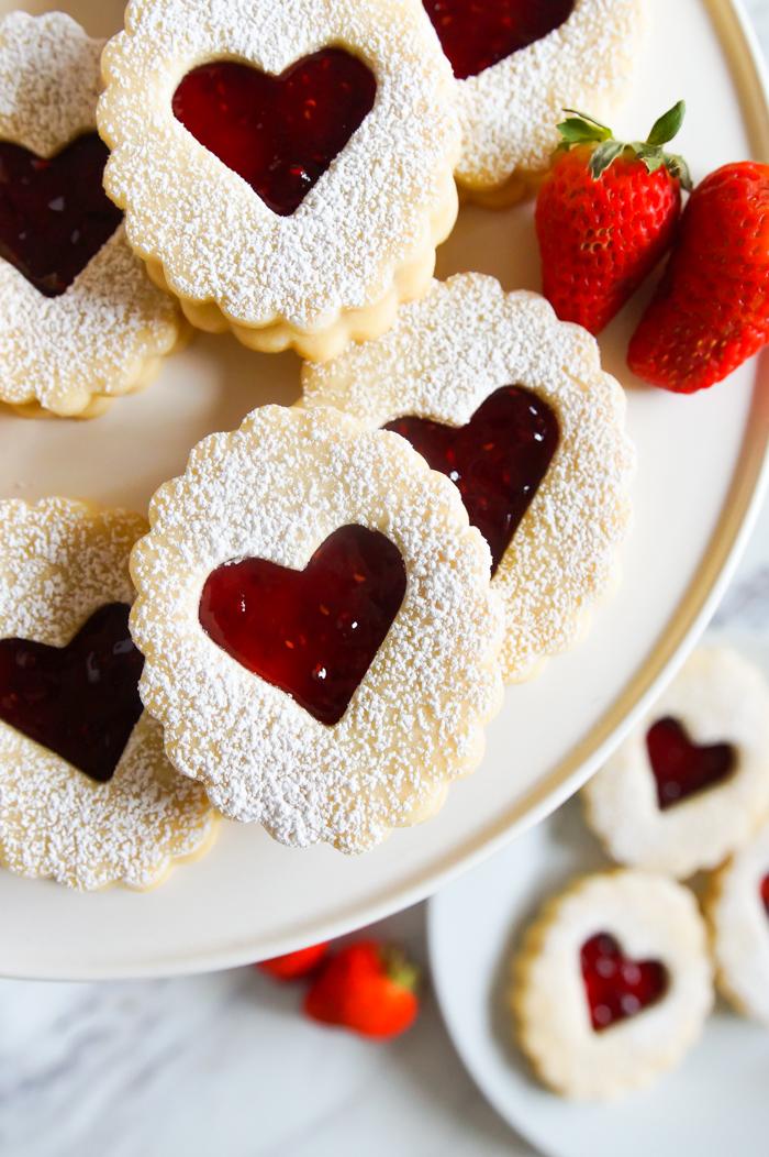 sweet Linzer cookies