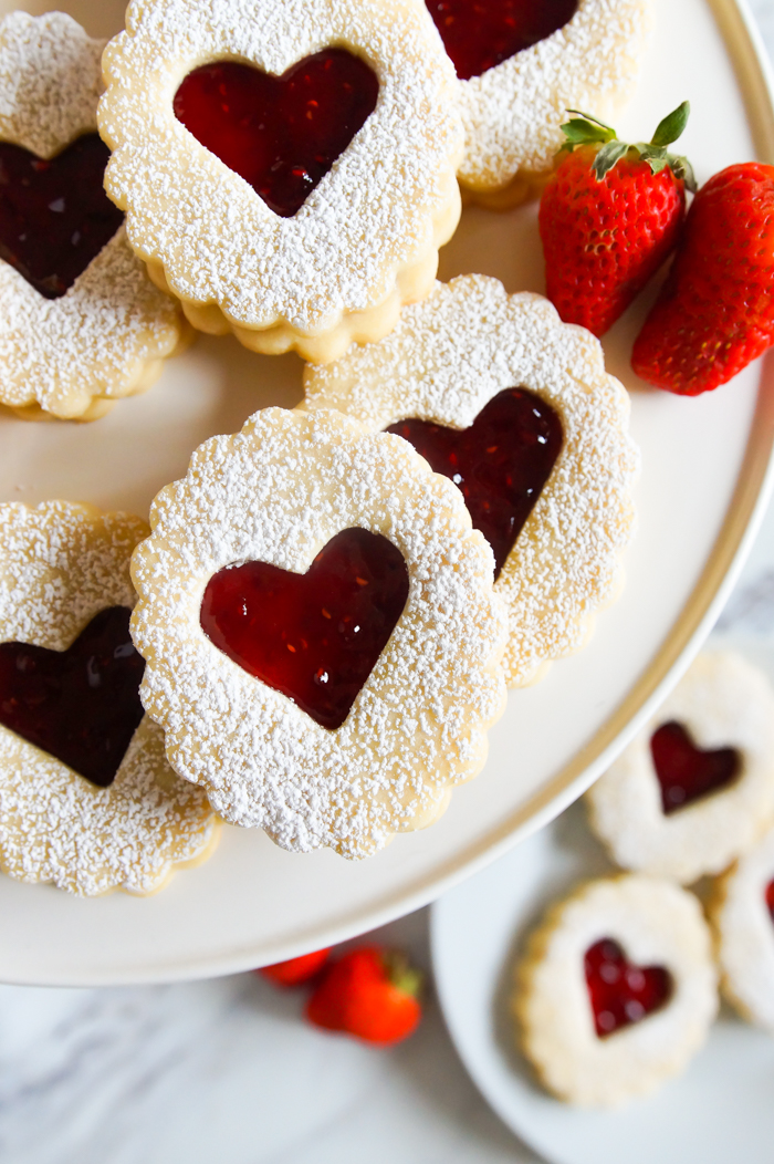 sweet Linzer cookies