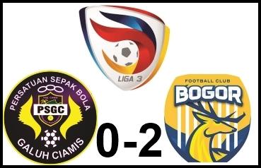 Kalah dari Bogor FC, PSGC Masih Berpeluang