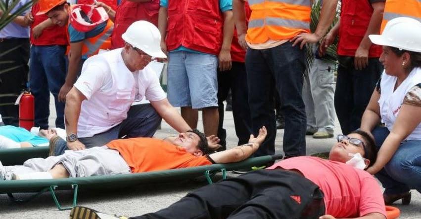 TERREMOTO EN PERÚ DE MAGNITUD 8.0 - Peruanos participaron en simulacro multipeligro a escala nacional
