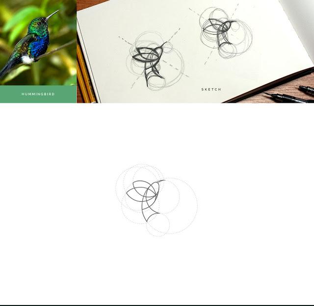 Siete hermosos logotipos de animales basados en geometría circular