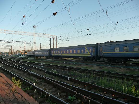 Железнодорожная станция Конотоп. Поезд № 124 Константиновка – Киев