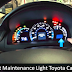 Maintenance Required Light toyota Camry