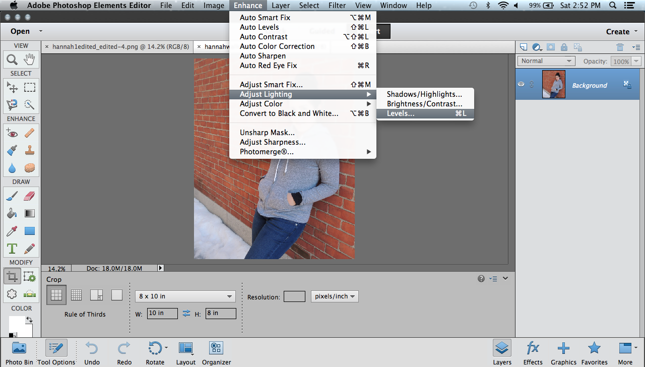 lighting effects in photoshop elements