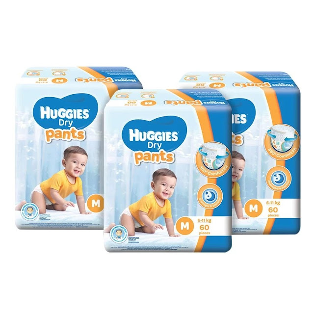 Huggies Dry Pants M60+6 x 3 Super Jumbo pack