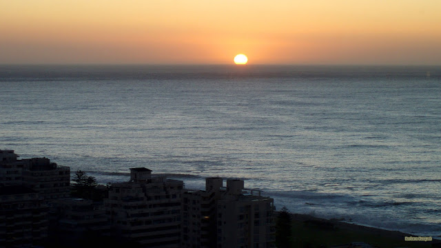 Ondergaande zon in Kaapstad