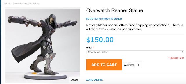 Ya se puede reservar la figura de Reaper de Overwatch