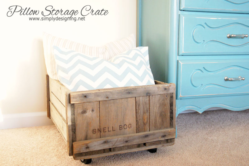 DIY Rolling Storage Crate | learn how to make a vintage crate into a rolling home storage option - simply | #diy #crate #storage