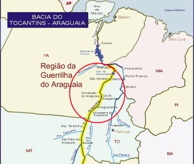 Mapa  Reprodução Blog Guerrilha do Araguaia 76785c7e5354c