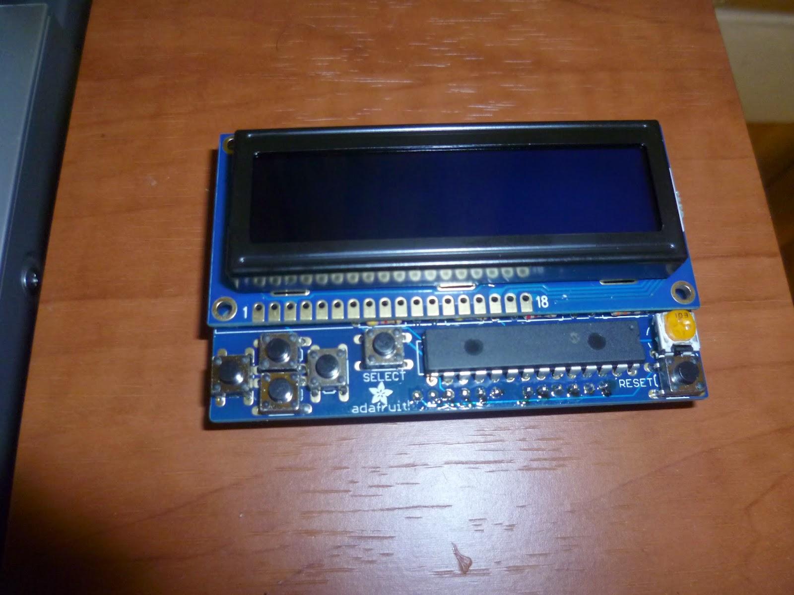 Adafruit RGB I2C LCD Keypad Shield - Circuit Crush