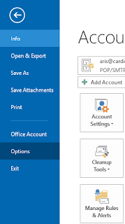 Setting options microsoft outlook