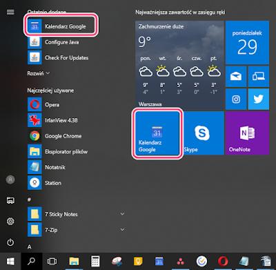 Skróty do aplikacji Chrome mają niepoprawną ikonę w Menu Start - kafelki