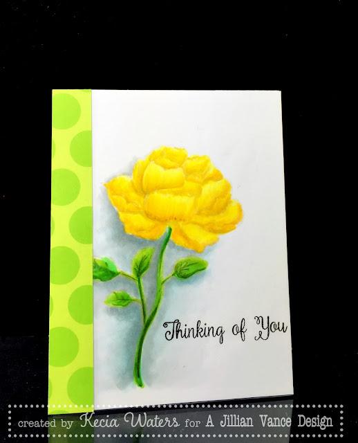 AJVD, Kecia Waters, no line coloring, Copic markers, Prismacolor Pencils, rose