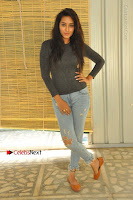 Actress Bhanu Tripathri Pos in Ripped Jeans at Iddari Madhya 18 Movie Pressmeet  0025.JPG