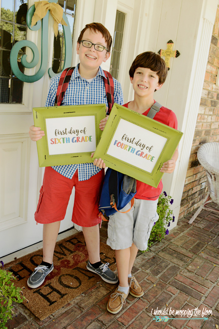 Free First Day of School Printables | Available in preschool through 12th grades | Instant downloads.