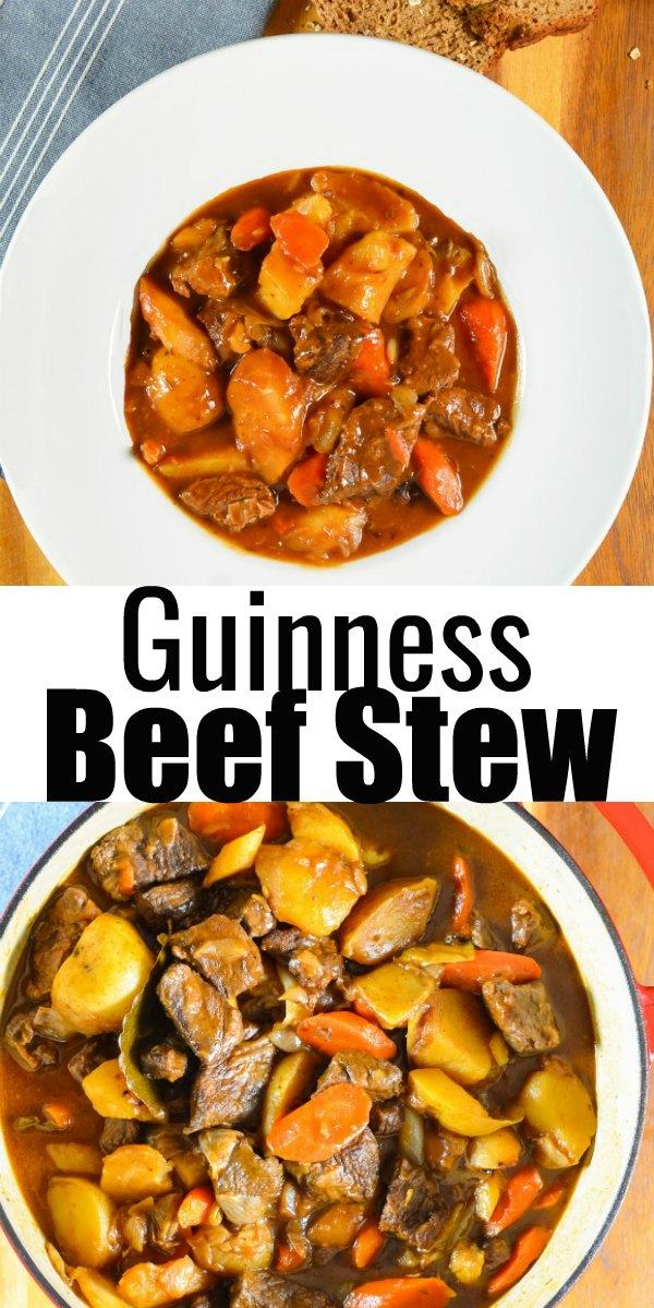 Guinness Beef Stew is a favorite Irish Dinner recipe for St. Patricks Day from Serena Bakes Simply From Scratch.