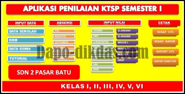 Unduh Aplikasi Penilaian KTSP Tahun 2018/2019