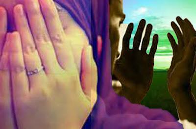 # Mengangkat Kedua Tangan Saat Berdo'a # Mengusap Wajah Setelah Berdo'a