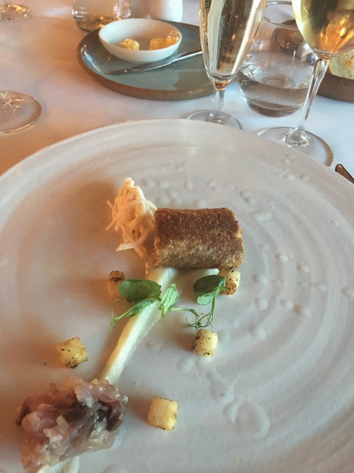 Mackeral at The Courtyard Restaurant, Ox Pasture Hall Country Hotel, Scarborough, Yorkshire, romantic hotel near beach in Scarborough