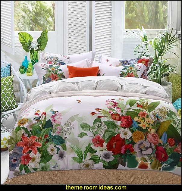 floral bedding  floral bedding - flowers pillows - floral duvet covers - Floral Bedding Sets - flower theme bedding - Floral Print Bedding