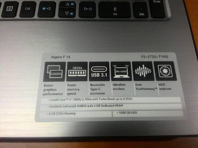 kali ini admin akan merekomendasikan sebuah laptop dengan spesifikasi core i Acer Aspire F5-573G-71MS Laptop Core i7 Paling Terjangkau Saat Ini