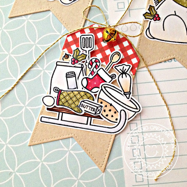 Sunny Studio Stamps: Build-A-Tag Playful Polar Bears Blissful Baking Festive Christmas Gift Tags by Franci Vignoli