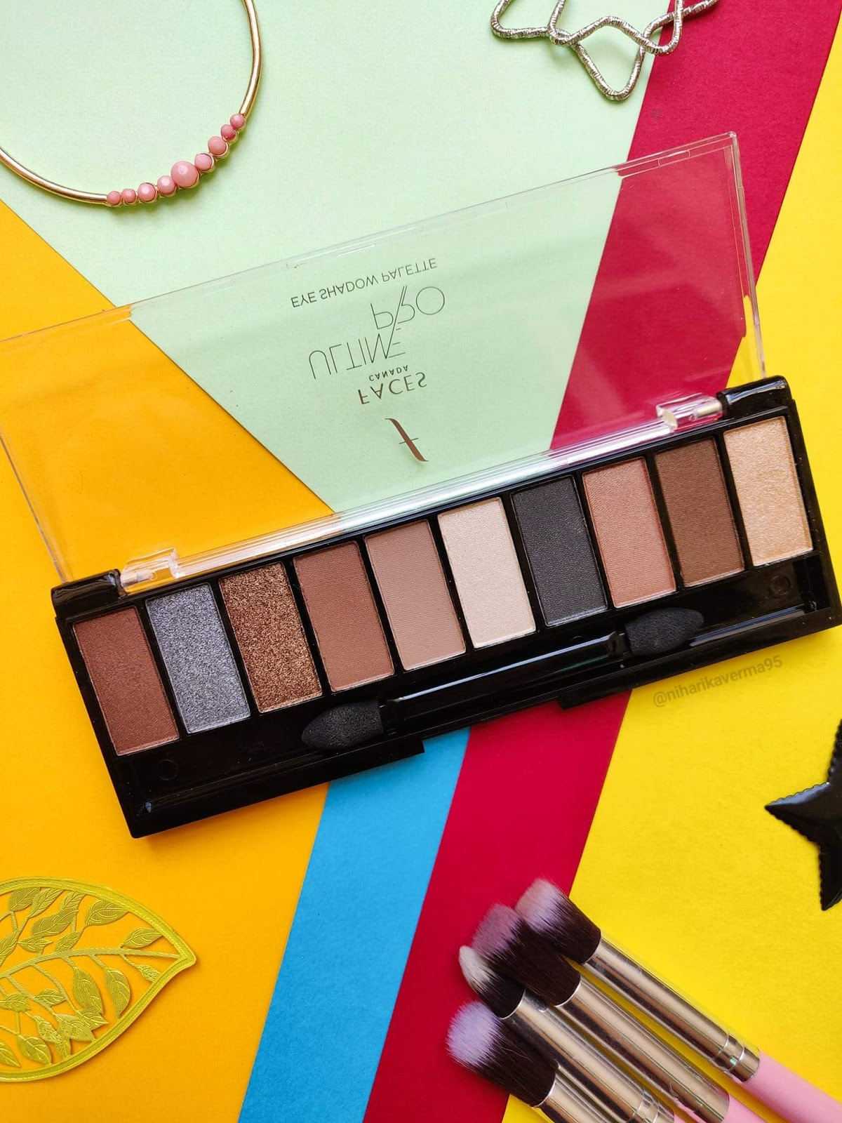 Top 5 Eyeshadow Palettes in India under Rs.1000/- and their Swatches - FACES Nude Palette