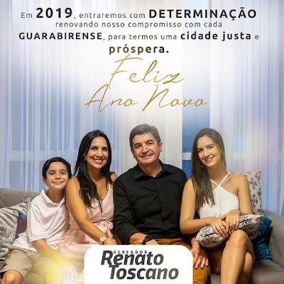 Mensagem do vereador guarabirense  Renato Toscano ao amigos e familiares