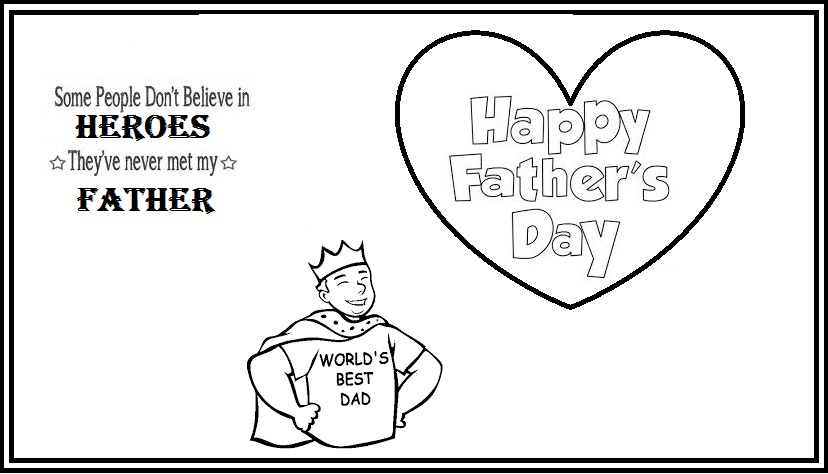 printable father\u0027s day card coloring - Didi coloring Page