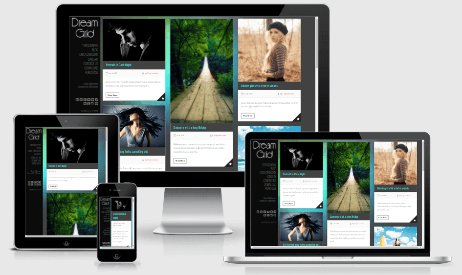 Download DreamGrid Responsive Blogger Template