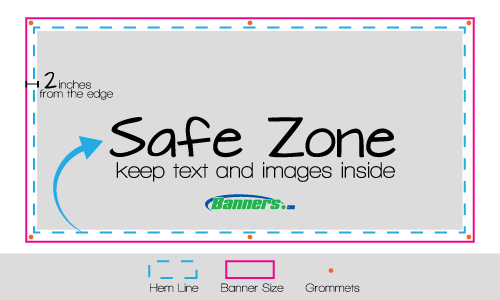 Vinyl Banner Safe Zone for Printing