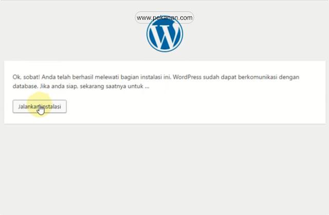 gambar cara install wp di localhost