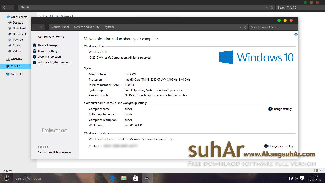 Free download Windows 10 Gamer Edition Evolution 2017 Final updates